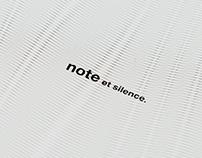 note et silence. ikebukuro open postcard