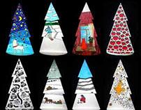 Festive series of fir-trees.Each 30 centimeters high.