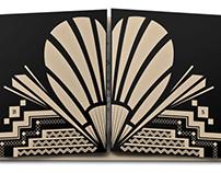 Art Deco Wedding Invite Design