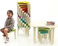 Kids Table & Stool Set