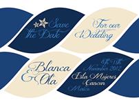 Nautical Themed Wedding Invite