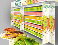 Shelves branding for GARNIER Fructis, 2012