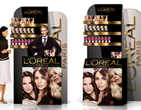Promo stand for LOREAL Paris, 2012