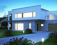 Single family house exterior