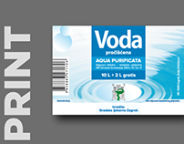 Aqua Purificata, label