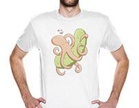 T Shirt Design - Octopus & Pickle
