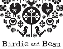 Birdie and Beau jewellery logo and icon designs