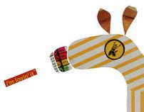 A Girafa McDonalds . The McDonads Giraffe