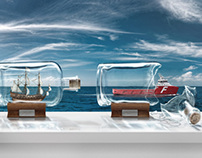 Farstad Ship in a Bottle