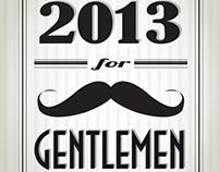 Retro Calendar for Gentlemen