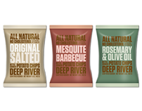 Deep River Snacks - Packaging Concept Sketches