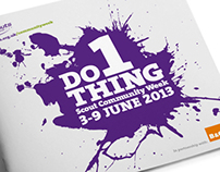 Scout Community Week Brochure 2013 (Do 1 Thing)