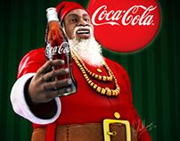 CocaCola Afro Santa