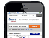 Sears Parts Model Sub Component Responsive Wireframes