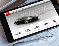 Tesla - Tablet Microsite