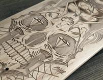 Laser-Engraved Skateboards