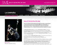 Website Ballet Municipal de Lima