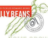 Pickled Beans: Label design