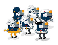 Família de mascotes Aker Solutions