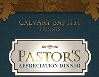 Pastor's Appreciation Dinner Church Flyer and CD