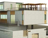 3D conceptual model of a contemporary villa