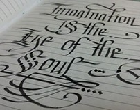 Sketch Book (Lettering Studies)