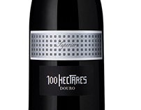 100 Hectares wine label