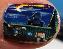 Street Fighter nail art