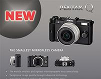 Graphic Design - Print & Web Pentax Camera Advert