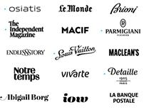 76 Logotypes & lettering