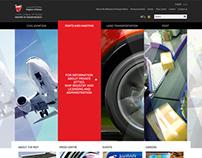 Bahrain Ministry of Transportation website concepts