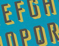 All caps typeface