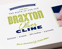 Braxton's Birth Announcement