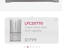 LG Appliances | Retail touch screen kiosk