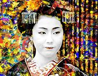 Geisha Art Wallpaper