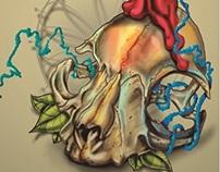 """""""foxy"""" the skull"""