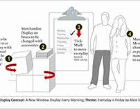 Everyday is Friday Concept Window Display -Allen Solly