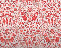 Delicacies and vitals fabric and wallpaper design