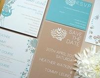 J'adore Peacock Wedding Invitation