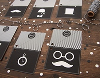 Manly Mustache & Monocle Gift Tags