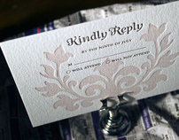 Letterpress Wedding Invitations: Bella Figura