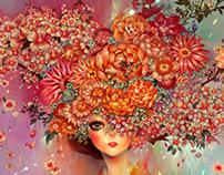 Hanbok & Flower