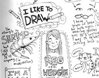 Sketches, drawings, doodles, roughs