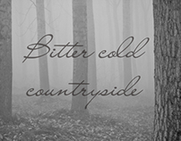 Bitter cold countryside