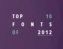 Top 10 Fonts of 2012