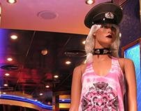 """Tie Dye """"13"""" Screen-Printed Bo-Tank Dress"""
