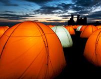 Peace Camp @ Dunstanburgh Castle / London Festival 2012