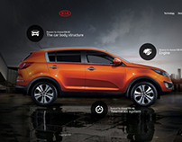 KIA Website Concept / Pitch