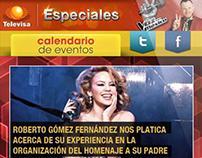 Televisa Especiales Web Mobile