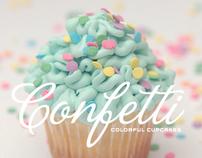 Confetti Colorful Cupcakes - Identity